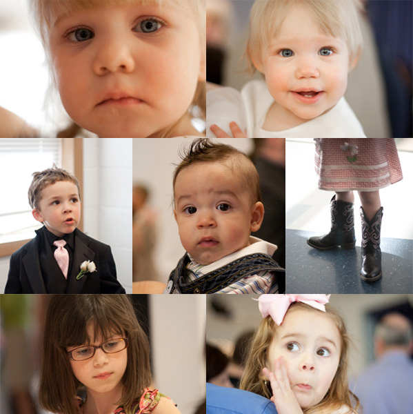 A collection of adorable kids from Eric and Marcy's wedding