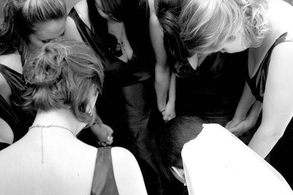 The girls praying