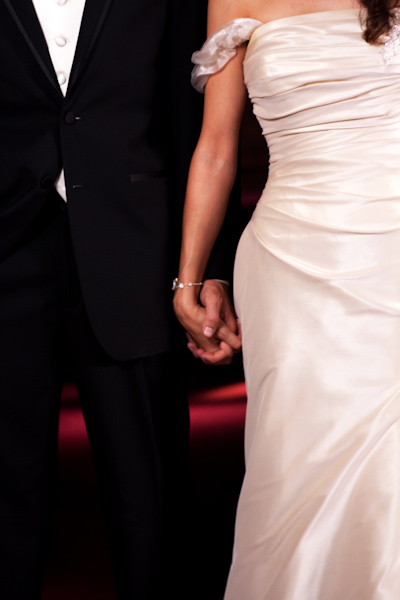 Britt and Jason hold hands