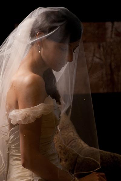 Britt in her veil