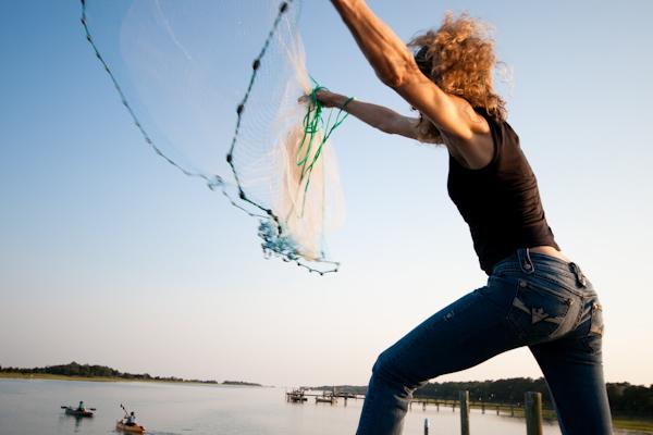 Danielle casts a net
