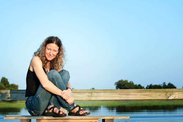Danielle on the dock