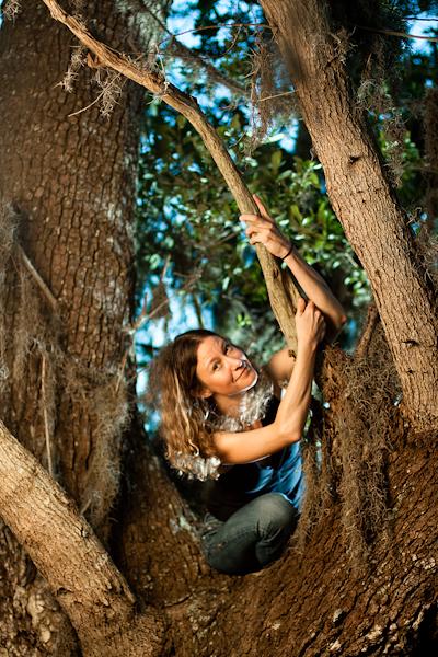Danielle in a tree