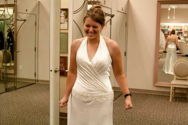 Lauren in her wedding gown