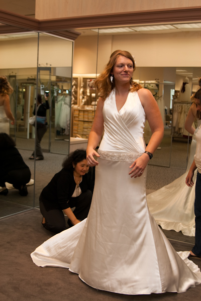 Lauren in her wedding dress
