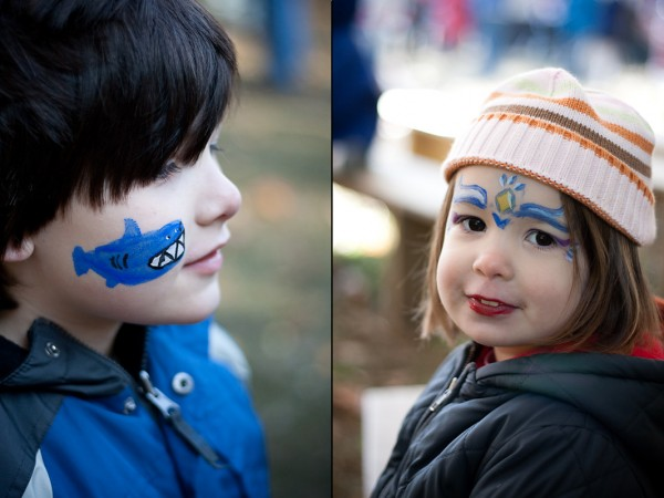 face painting at LEAF