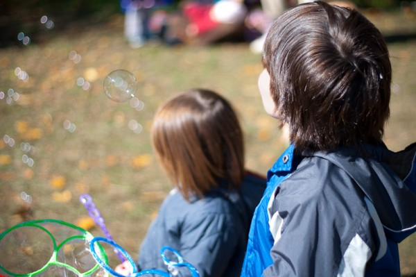 bubbles at LEAF