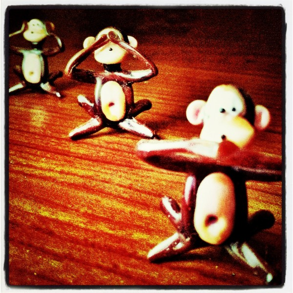See no evil, hear no evil, speak no evil...monkeys