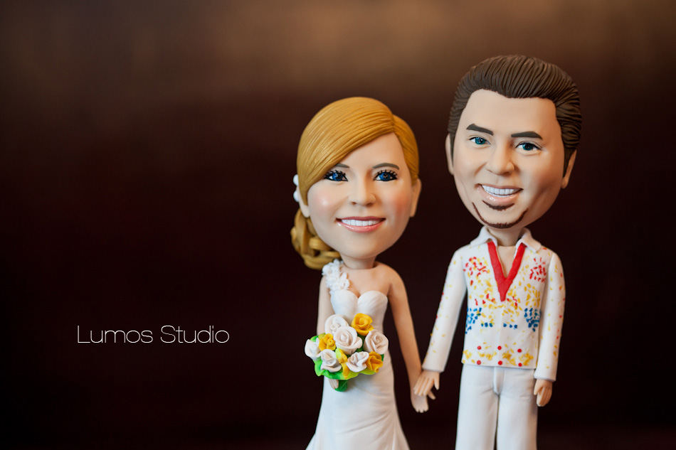 Hand made wedding cake topper