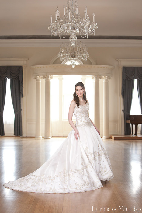 Bride at Society Hall in Charleston, SC