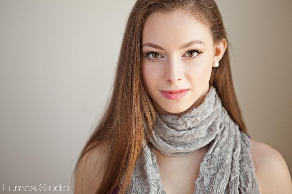 Girl's senior photo