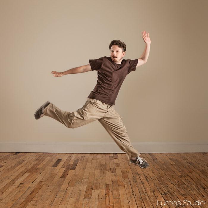 J.P. soaring gracefully through the air