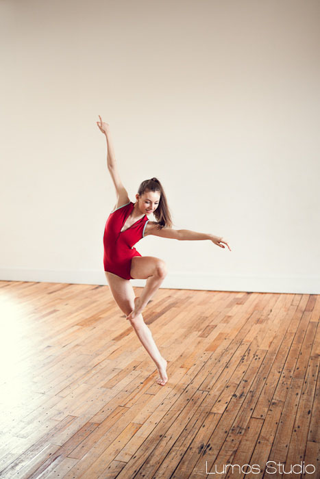 Modern dancer in red