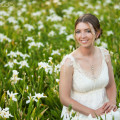 Bridal portrait at SC state house in Columbia
