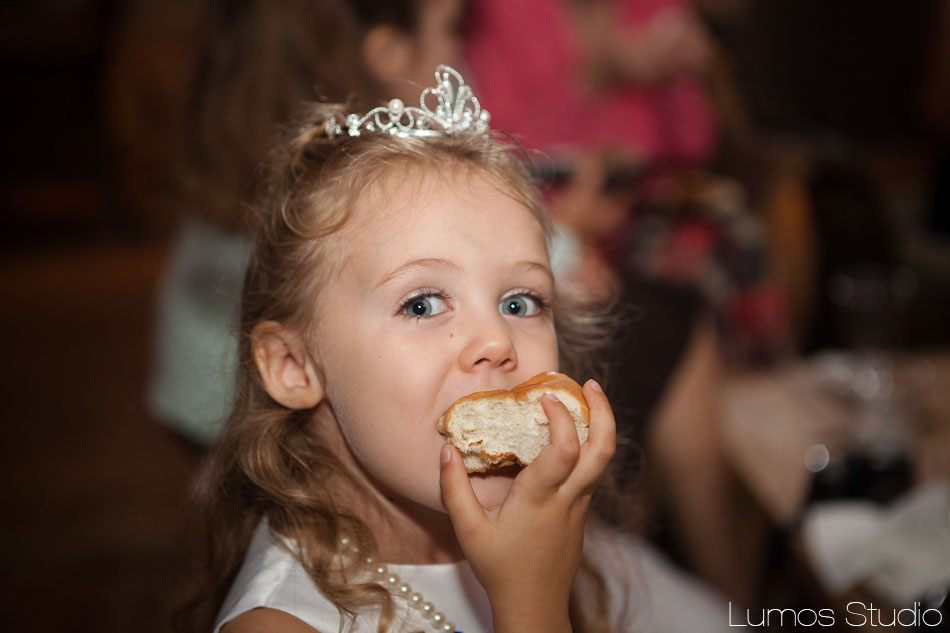 Cute little girl at wedding