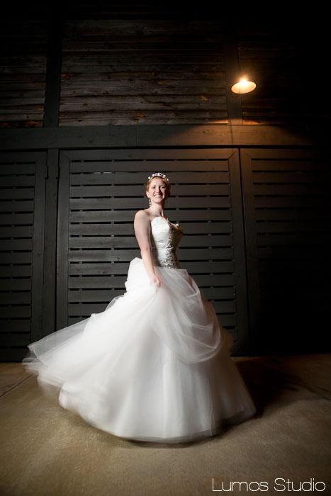 Bride spinning at the Sauda River Club in SC