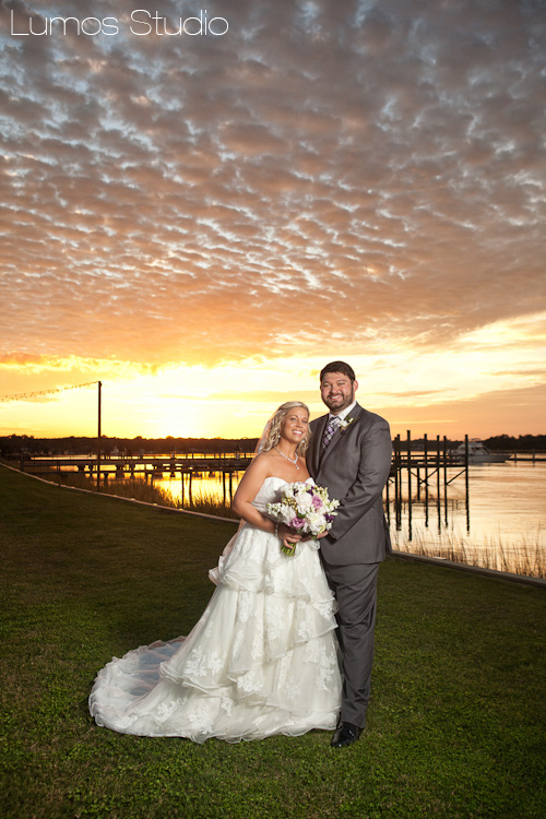 Gorgeous sunset at The Island House wedding