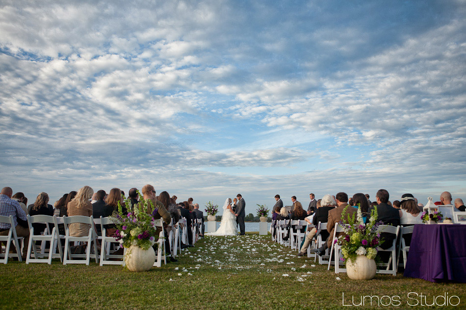 Beautiful sky during a wedding at the Island House on Johns Island