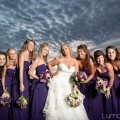 Gorgeous sky, gorgeous bride and bridesmaids