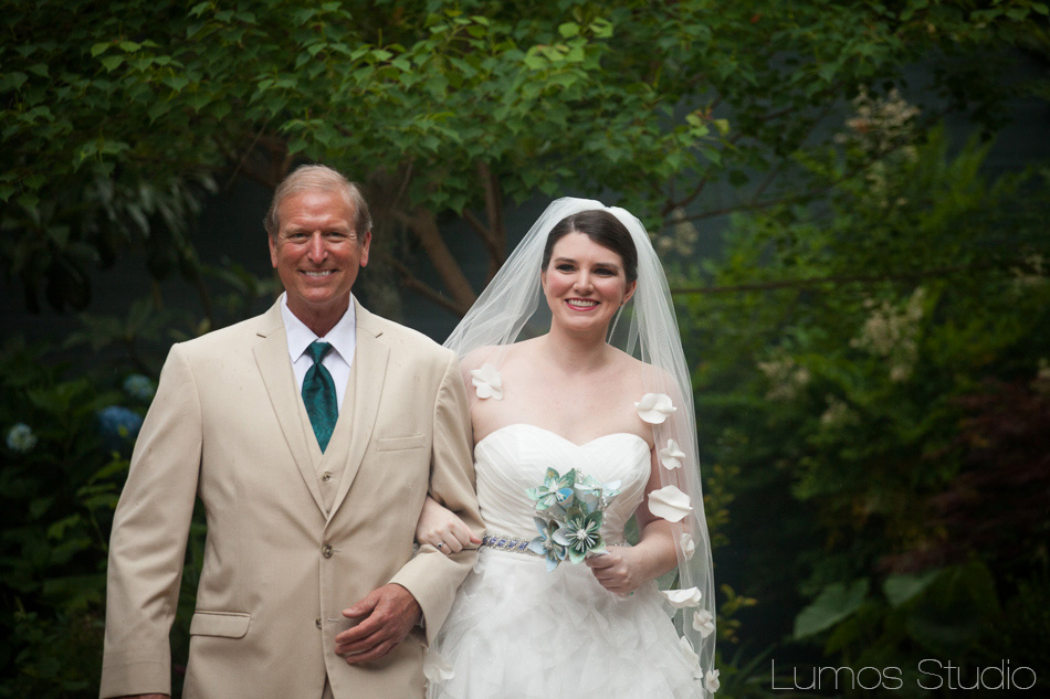 The bride and her father