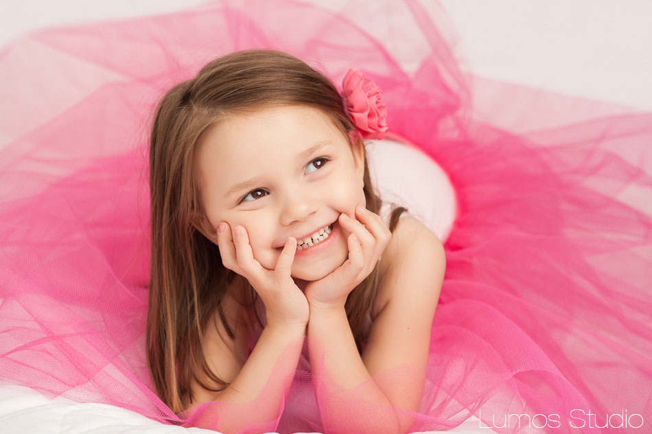 Little girl in a pink tutu