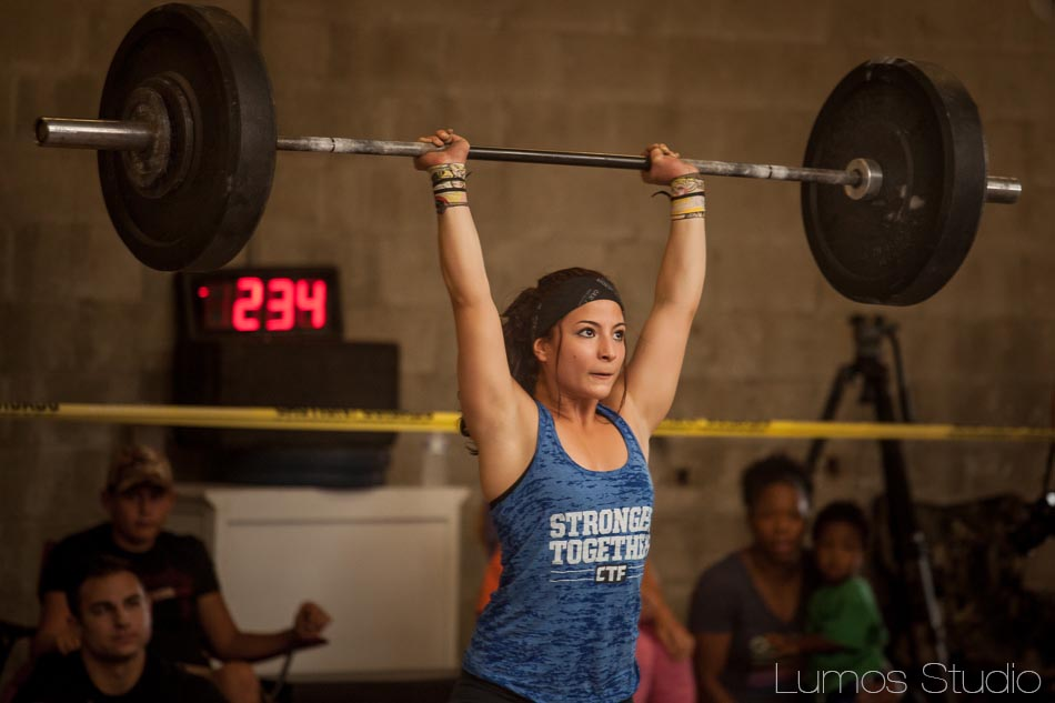 Woman lifting at CrossFit