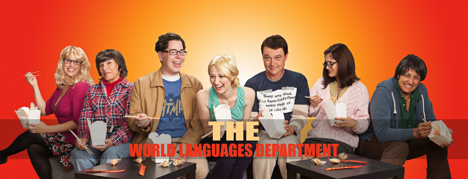 Spring Valley's World Languages Department as the cast of The Big Bang Theory
