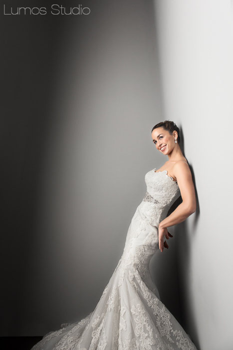 Modern bridal portrait