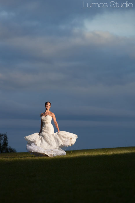 Beautiful bride spinning in her wedding dress in Columbia, SC