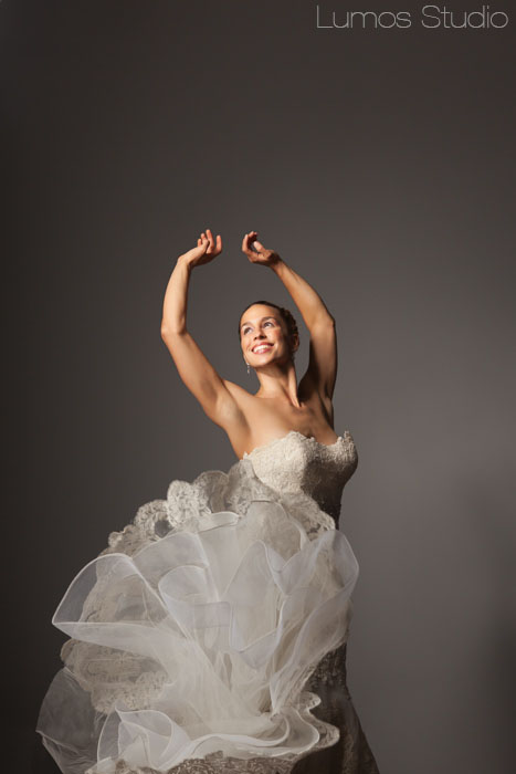 A playful photo of the bride
