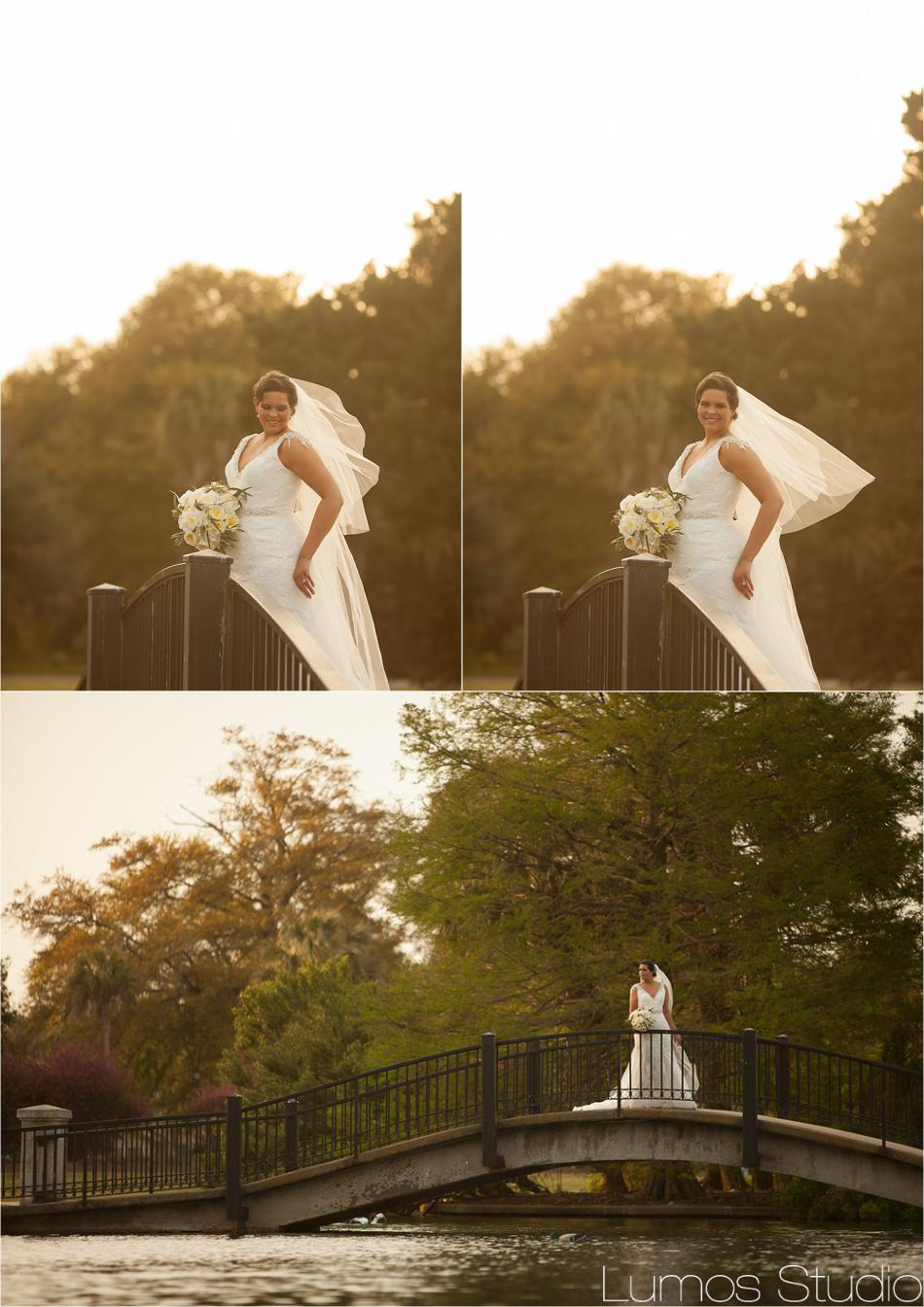 Hampton Park Bridge Bridal Portraits