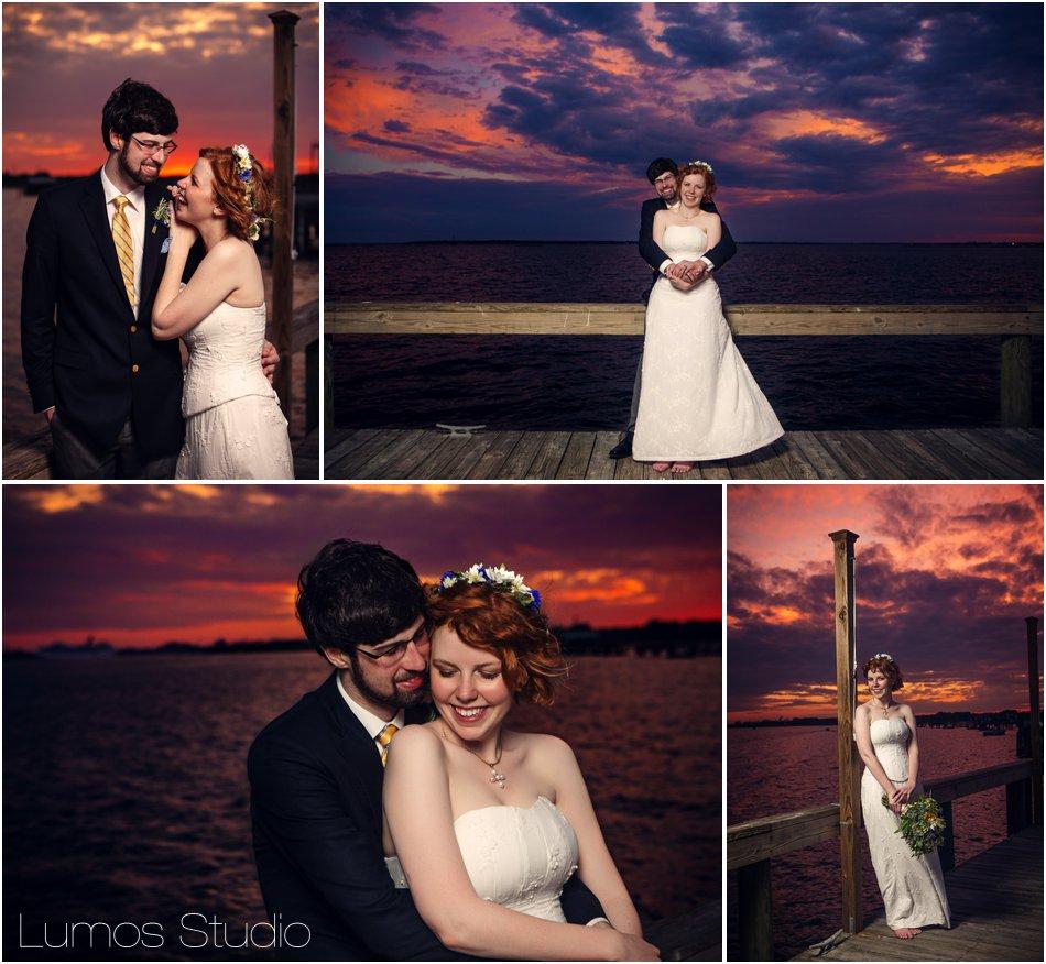 13 Charleston wedding sunset
