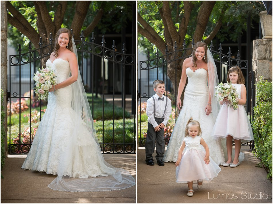 Bridal portraits at Grace Church Greenville
