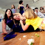 Fighting for the bouquet